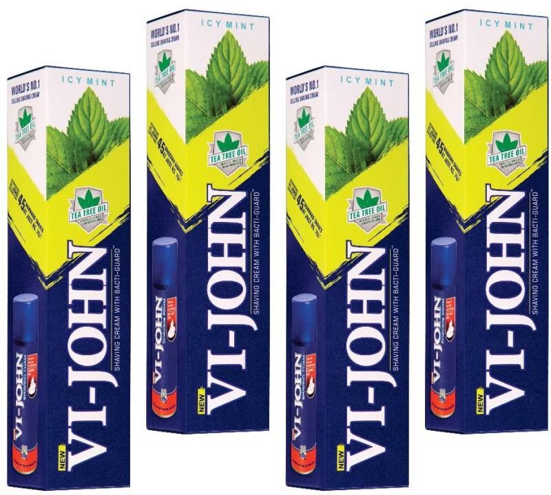 Vi-John Shaving Cream Ice Mint Pack of 8(125 g)