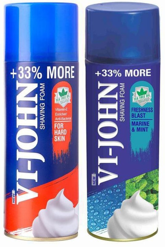 Vi-John Shave Foam Hard & Mint Marine 400GM (PACK of 2)(400 g)