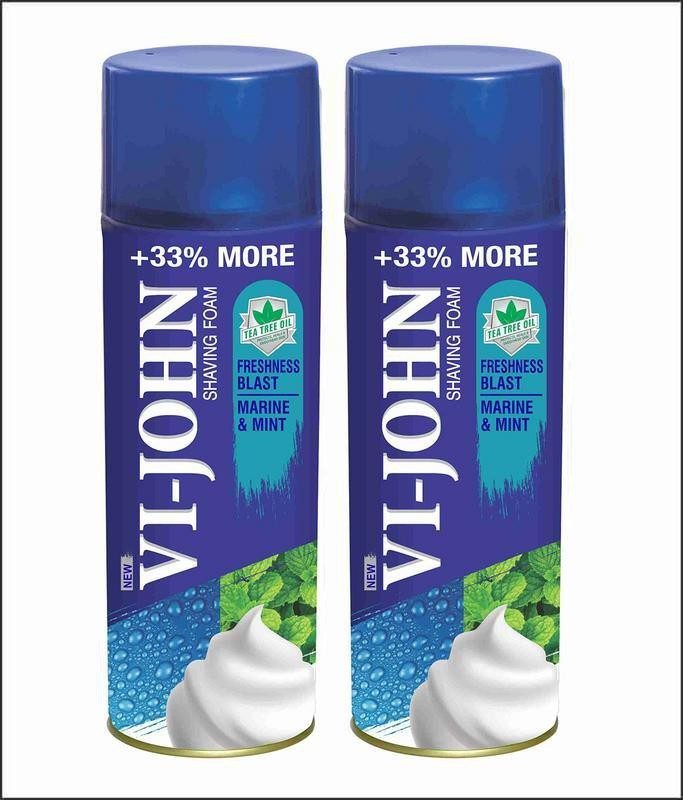 Vi-John Shave Foam Mint & Marine 400gm (Pack of 2)(400 g)