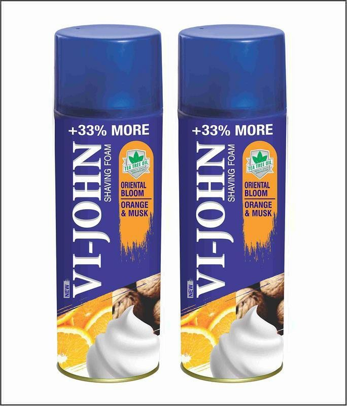 Vi-John Shave Foam Musk & Orange 400GM (PACK of 2)(400 g)