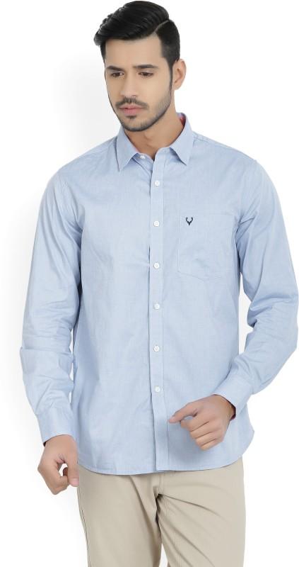 Allen Solly Men's Solid Casual Blue Shirt