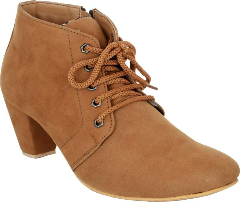 Exotique EL0040TN Boots For Women(Tan)