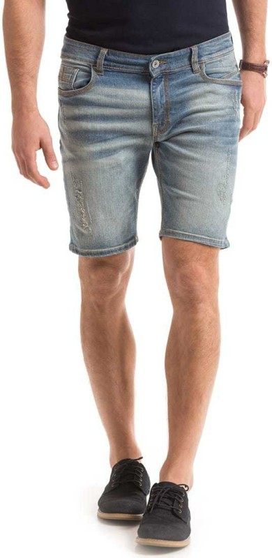 Izod Solid Men Blue Chino Shorts