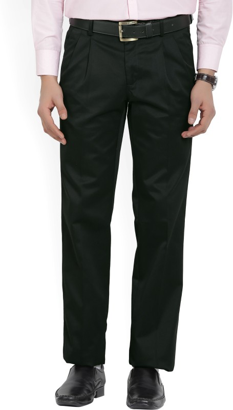 Van Heusen Regular Fit Mens Black Trousers