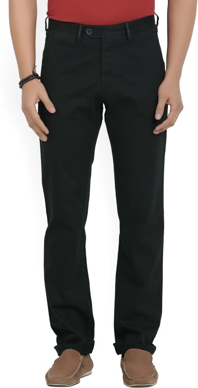 Allen Solly Regular Fit Mens Black Trousers