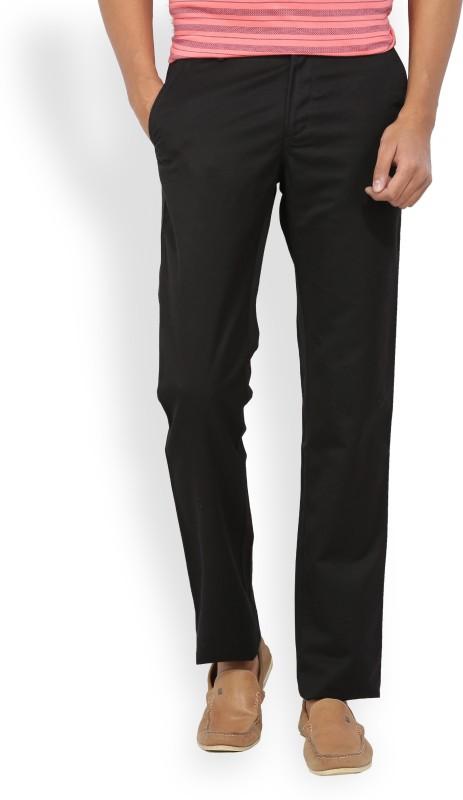 Allen Solly Slim Fit Mens Black Trousers