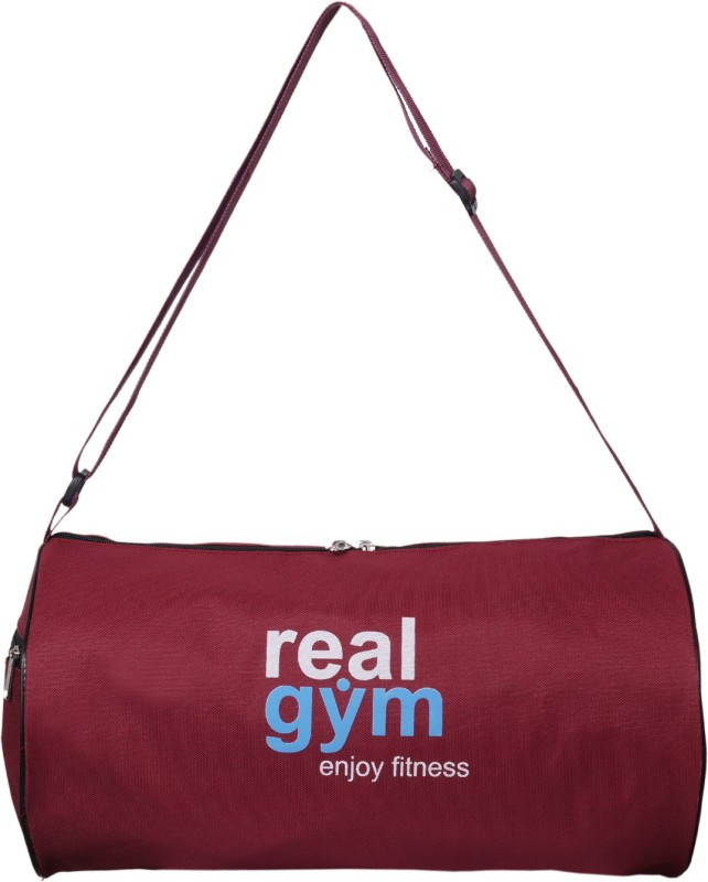 Dee Mannequin Real Fitness Maroon Gym Bag(Maroon, Kit Bag)