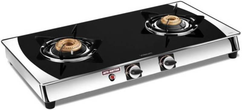 Vidiem Edge Plus 2 Burner AI Glass Automatic Gas Stove(2 Burners)