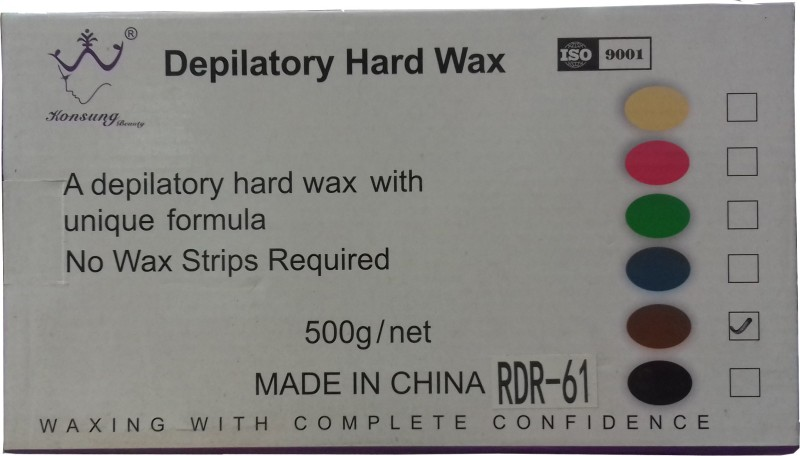 Beauty Studio Depilatory Hard Wax - DARK CHOCOLATE Wax(500 g)