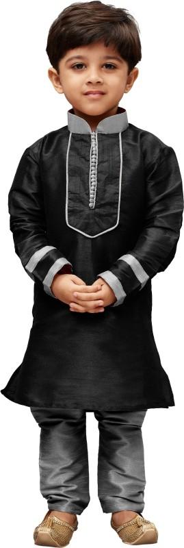 JBN Creation Boys Casual, Formal, Festive & Party Kurta and Pyjama Set(Black...