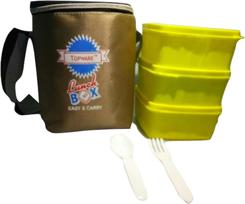 Topware 3G_YellowContainer 3 Containers Lunch Box(600 ml)