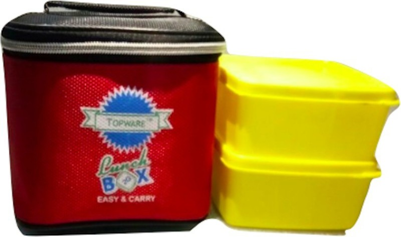 Topware 2G_YellowContainer 2 Containers Lunch Box(400 ml)