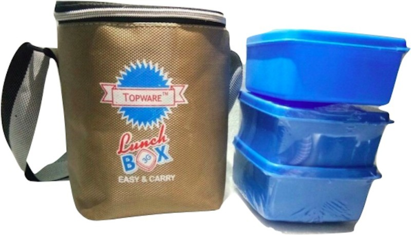 Topware 3G_BlueContainer 3 Containers Lunch Box(600 ml)