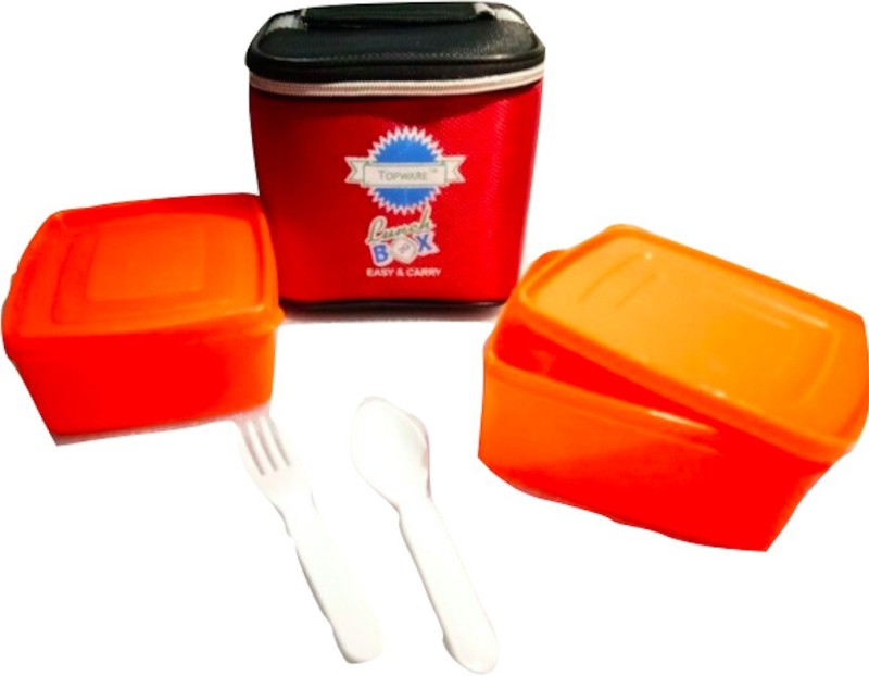 Topware 2G_OrangeContainer 2 Containers Lunch Box(400 ml)