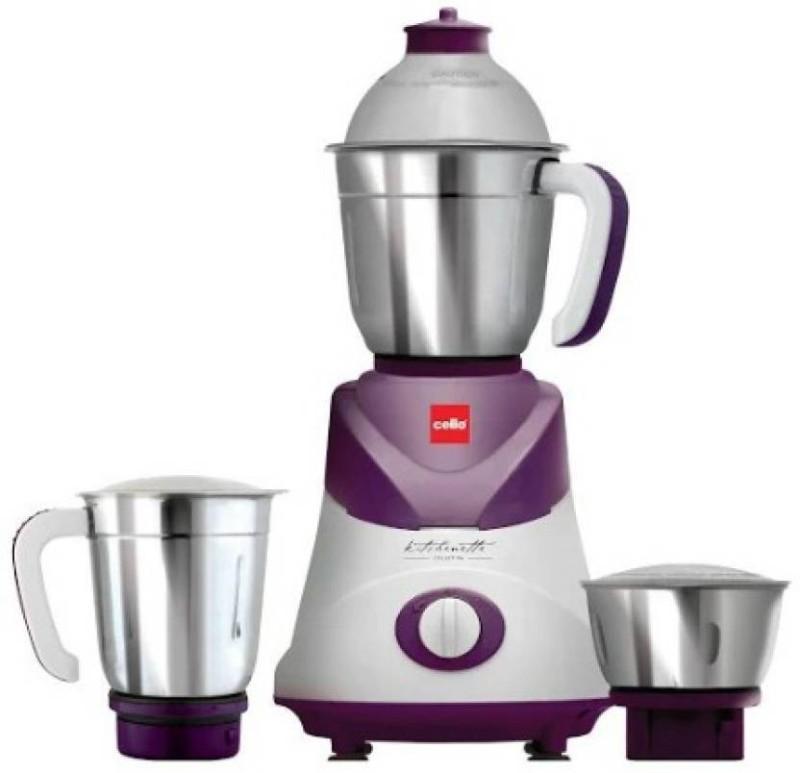 Cello Swift 500 W Mixer Grinder 500 Mixer Grinder(Violet, 3 Jars)