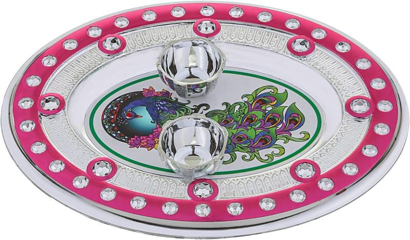 aastha AN26 Plastic Pooja & Thali Set(03 Pieces, Multicolor)