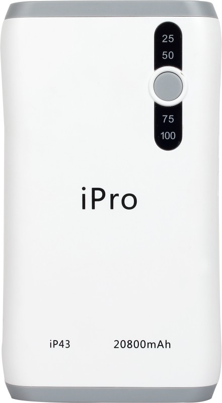 Ipro 20800 MAH Power Bank (IP 43, Lithium - ion)(Grey, Lithium-ion)