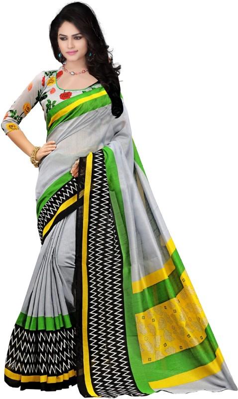 TRUNDZ Printed Bhagalpuri Cotton Saree(Multicolor)