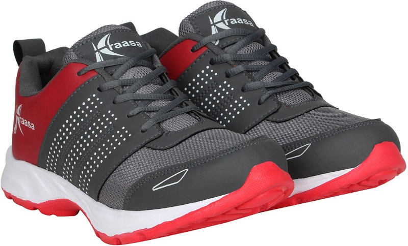 Kraasa Fast Running Shoes For Men(Red, Grey)