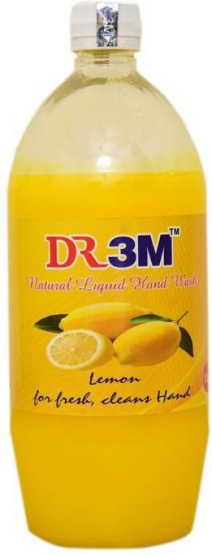 DR3M LEMON NATURAL LIQUID HAND WASH 1ltr. Regular Liquid Toilet Cleaner(1 L)