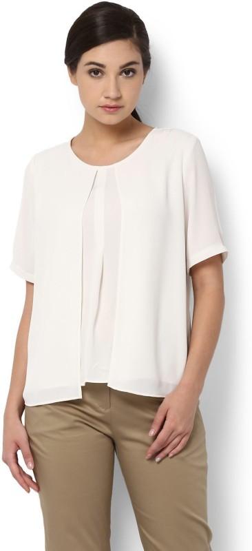 Van Heusen Casual Half Sleeve Printed Women's White Top