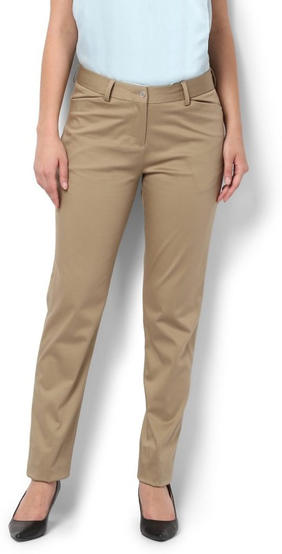 Van Heusen Regular Fit Women Beige Trousers