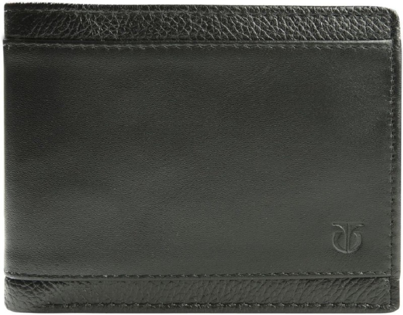 Titan Men Black Genuine Leather Wallet(3 Card Slots)