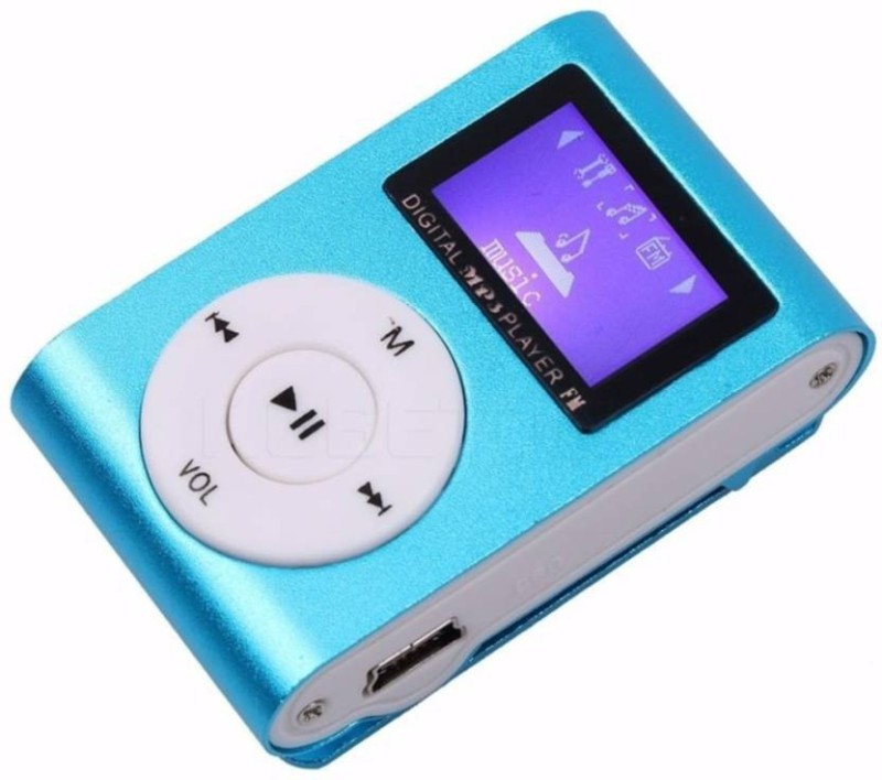 Mezire HiFi Stereo Super Bass sound Premium Design Rechargeable Battery Enjoy Music MP3 Player (Blue, 1.2 Display) 16 GB MP3 Player(Blue, 1.2 Display)