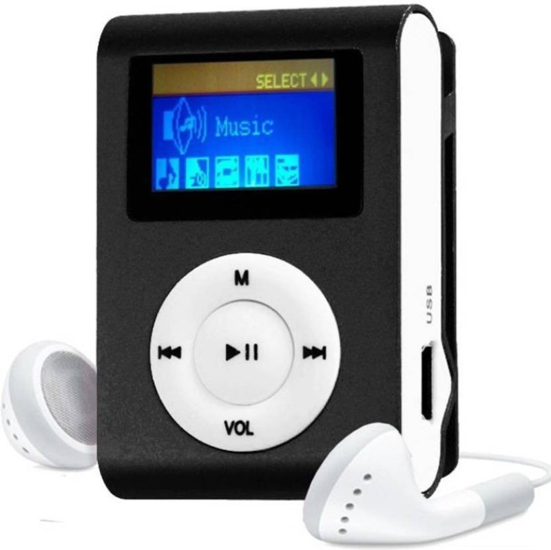 Mezire HiFi Stereo Super Bass sound Premium Design Rechargeable Battery Enjoy Music JRB-M1 MP3 Player (Blue, 1.2 Display) 16 GB MP3 Player(Black, 1.2 Display)