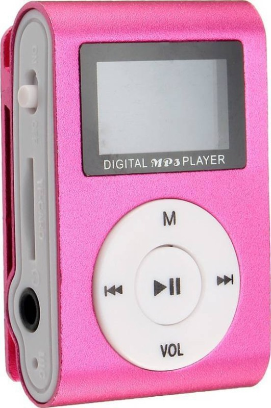 Mezire Super Bass HiFi Stereo sound Premium Design Rechargeable Battery Enjoy Music M2 MP3 Player (Pink, 1.2 Display) 16 GB MP3 Player(Pink, 1.2 Display)