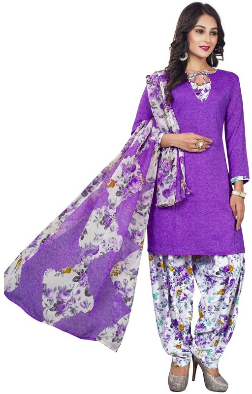 Jevi Prints Synthetic Floral Print, Printed Salwar Suit Dupatta Material(Un-stitched)