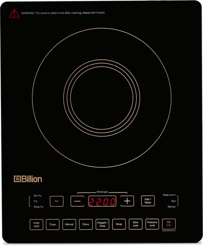 Flipkart - Flat ₹200 Off Billion FullGlass XC125 2200W Induction Cooktop