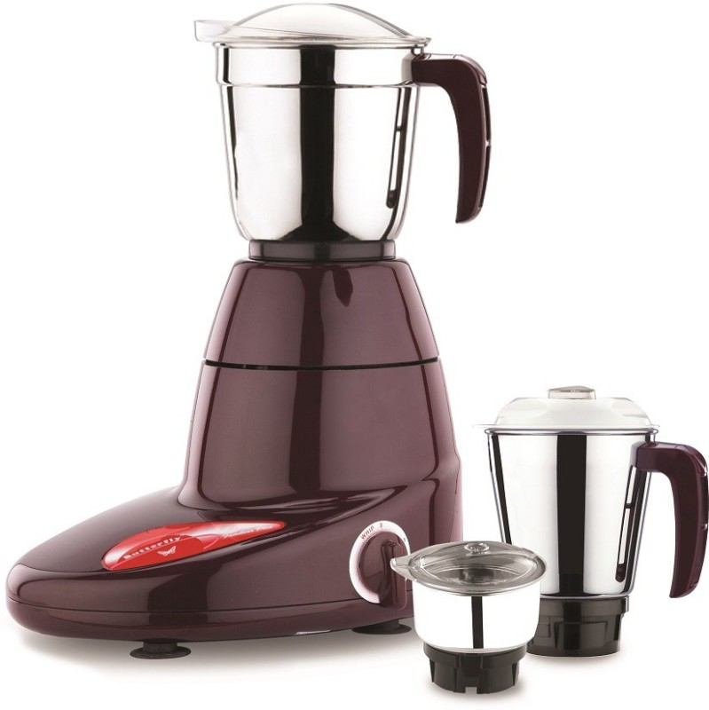 Butterfly NOVO 750 Mixer Grinder(CHERRY RED, 3 Jars)