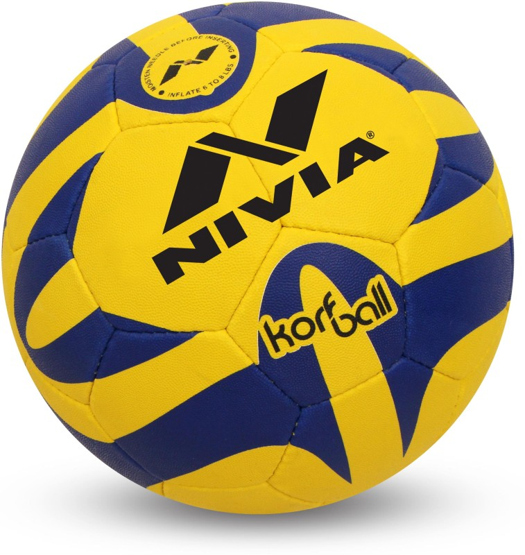 Nivia korfball Korfball - Size: 5(Pack of 1, Yellow, Blue)