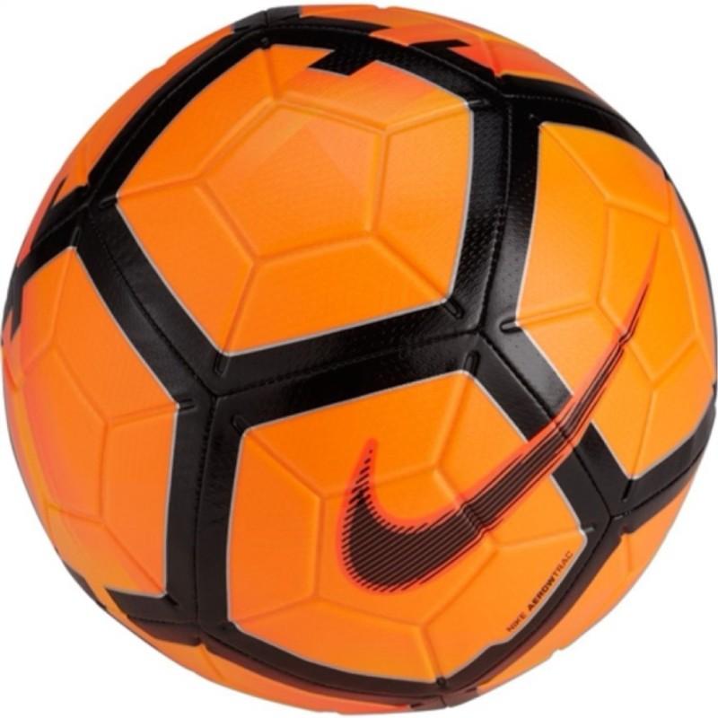 Nike Strike Football - Size: 5(Pack of 1, Black, Orange)