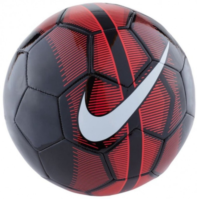 Nike Mercurial Fade Football - Size: 3(Pack of 1, Red, Black)