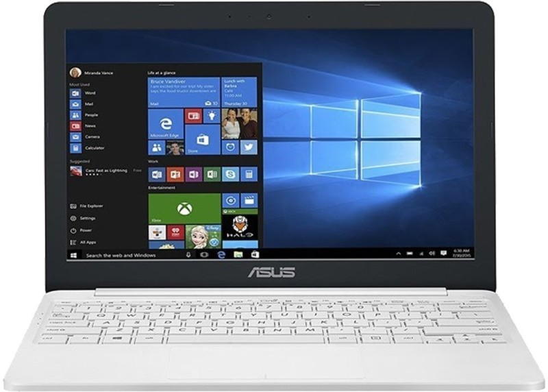 Asus E203NAH Celeron Dual Core 7th Gen - (2 GB/500 GB HDD/Windows 10 Home) E203NAH-FD053T Laptop(11.6 inch, White, 1.2 kg) image