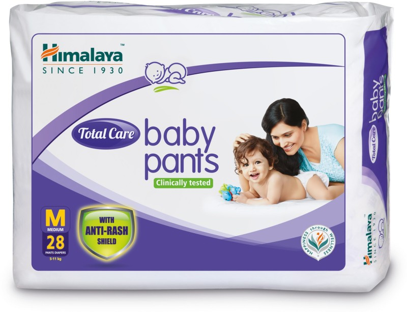 Himalaya Total Care Baby Pants - M(28 Pieces)
