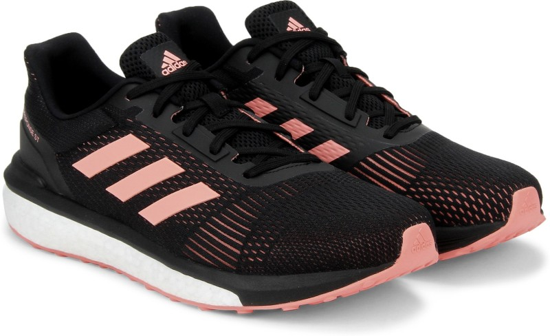 ADIDAS RESPONSE ST W Running Shoes For Women(Black, Pink)