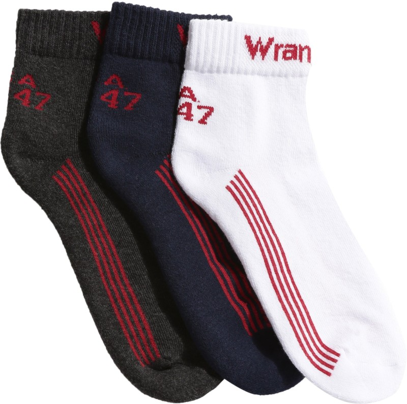 Wrangler Mens Solid Ankle Length Socks(Pack of 3)