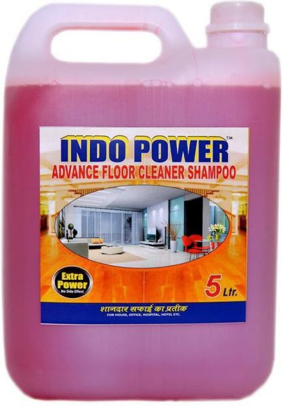 INDOPOWER ADVANCE FLOOR CLEANER SHAMPOO (ROSE) 5ltr. Stain Remover