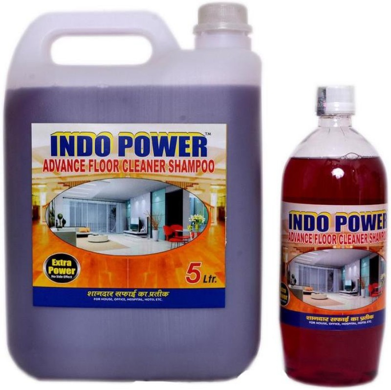 INDOPOWER ADVANCE FLOOR CLEANER SHAMPOO MOGRA (1ltr.+ 5ltr.) COMBO PACK Stain Remover