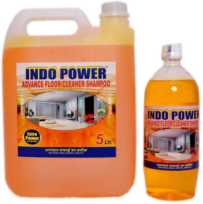 INDOPOWER ADVANCE FLOOR CLEANER SHAMPOO LIME (1ltr.+ 5ltr.) COMBO PACK Stain Remover