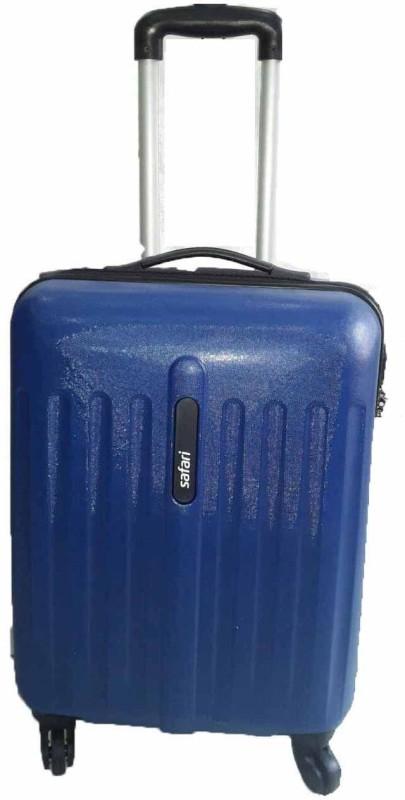 Safari Anti Scrach Polycarbonate 100% Unbreakable Cabin Luggage - 20 inch(Blue)