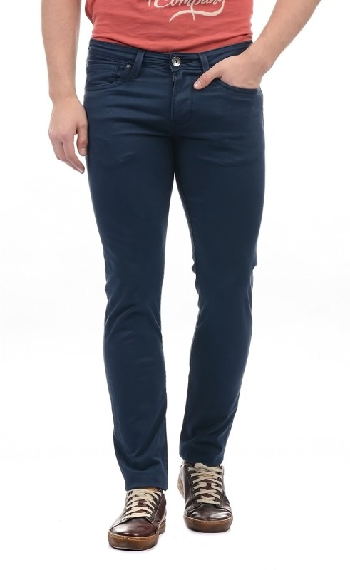 Pepe Jeans Slim Fit Mens Dark Blue Trousers