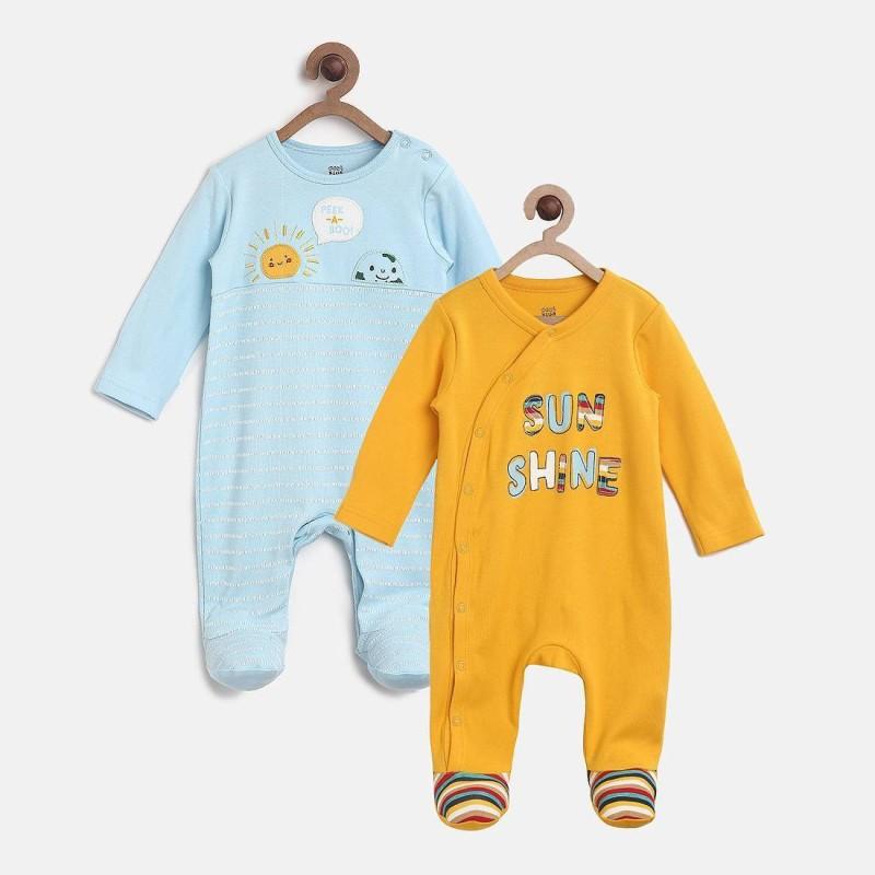 f5153040f9ca Mini Klub Baby Boys Multicolor Sleepsuit