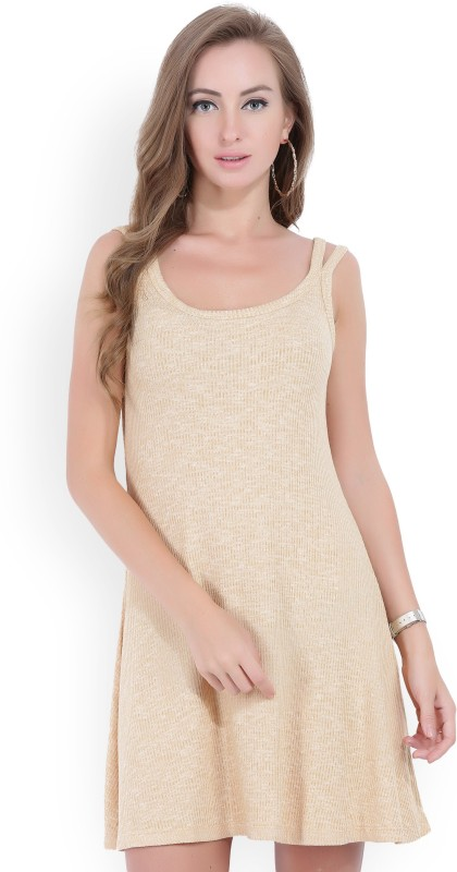 Forever 21 Womens A-line Beige Dress