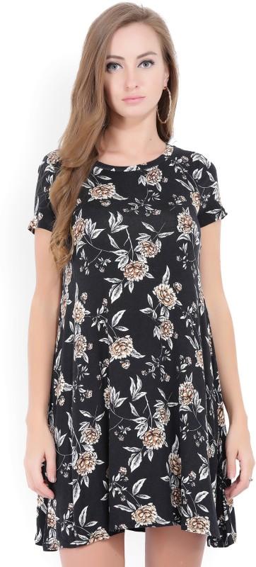 Forever 21 Womens A-line Black Dress