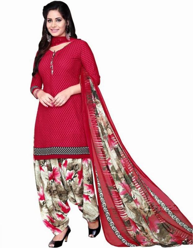 Reya Crepe Floral Print Salwar Suit Dupatta Material(Un-stitched)