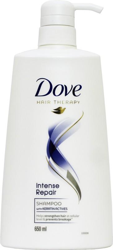 Dove Intense Repair with Keratin Actives Hair Therapy Shampoo(650 ml)